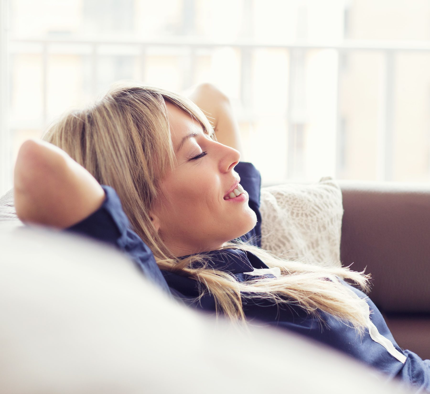 Relaxed young woman